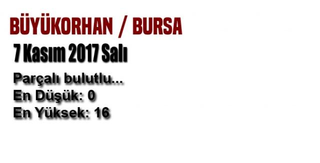 Bursa'da bugün hava nasıl olacak? (7 Kasım 2017 Salı)