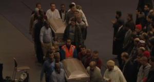 Cami saldırısında yaşamını yitirenlere uğurlama
