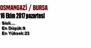 Bursa'da yarın hava nasıl olacak? (16 Ekim Pazartesi)