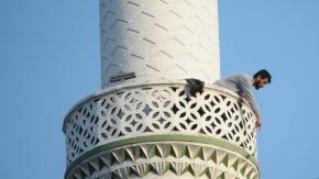 Bursa'da pompalı tüfekle minareye çıktı, dehşet saçtı!