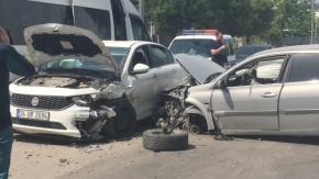 Bursa'da akılalmaz kaza! İki araç...