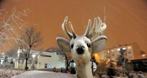 Bursa'da kar manzaraları
