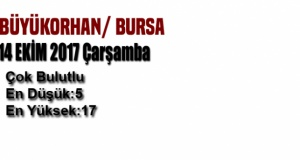 Bursa'da bugün hava nasıl olacak? (14 Ekim 2017)