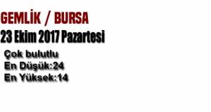 Bursa'da bugün hava durumu nasıl olacak? (23 Ekim 2017 Pazartesi)