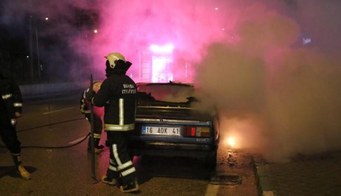 Bursa'da kaza yapan sürücü öyle bir şey yaptı ki