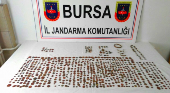Bursa'da tarihi eser kaçakçılarına operasyon