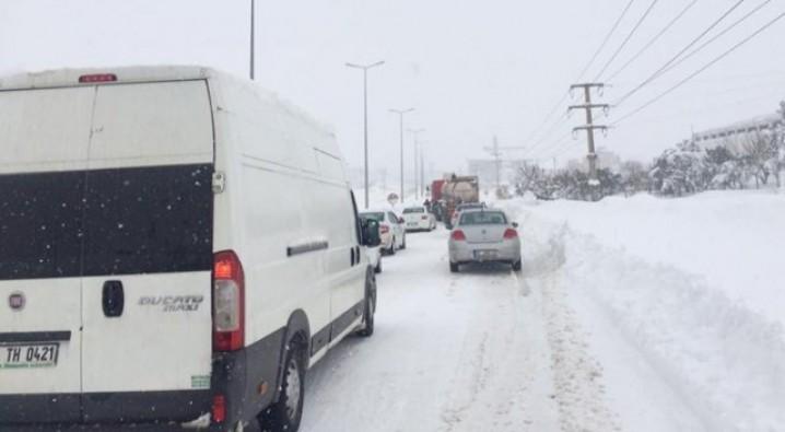 Bursa ve Balıkesir'i birbirine bağlayan karayolu kapandı