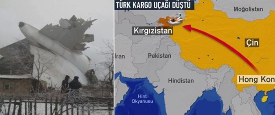 Türk kargo uçağı Kırgızistan'ta düştü