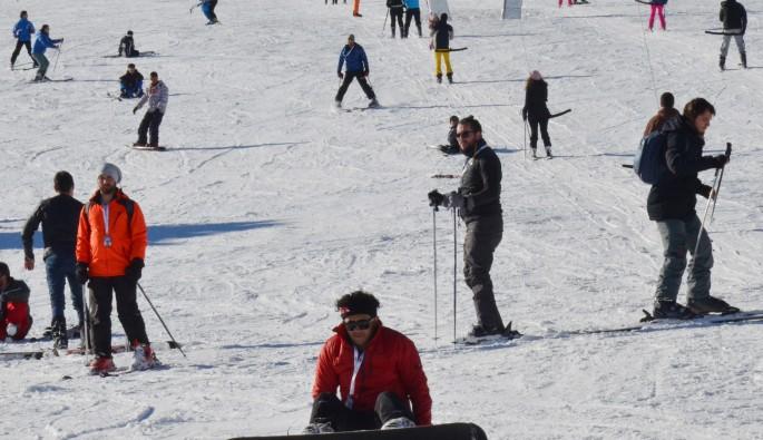 Uludağ'da kayak keyfi