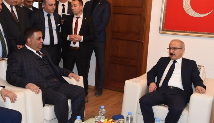 Bakan Elvan Şevket Can'ı makamında ziyaret etti