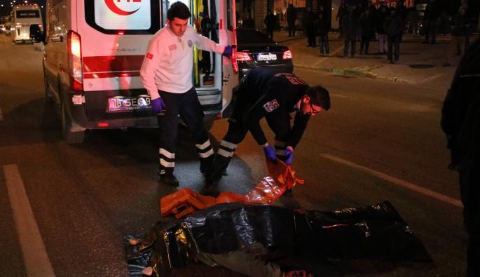 Bursa'da otomobilin çarptığı yaya feci şekilde can verdi