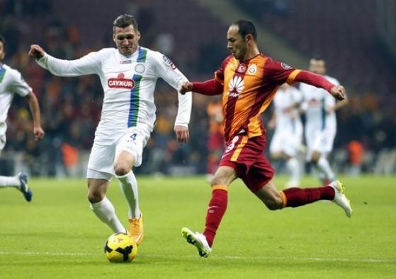 Çaykur Rizespor: 0 - Galatasaray: 1 (İlk yarı)