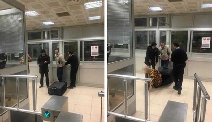 Sarp Sınır Kapısı'nda bavuldan çıkan kadın şok etti