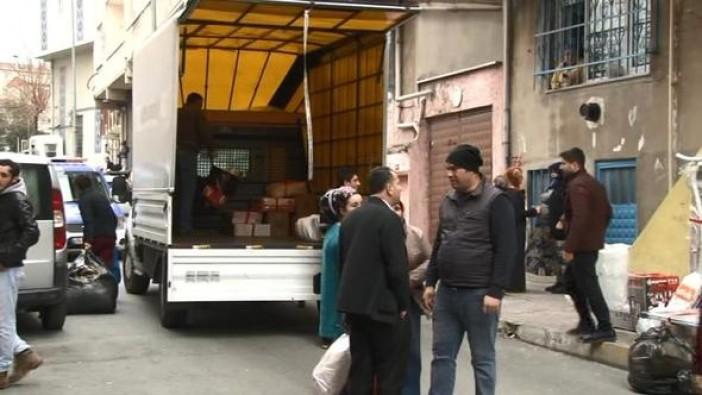 İstanbul'da 4 bina boşaltıldı