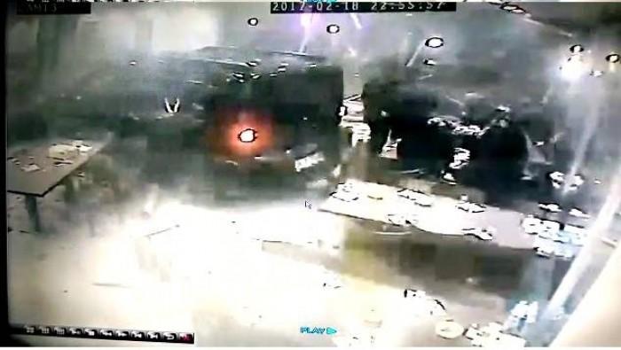 Kazanın yaşandığı anlar güvenlik kamerasında
