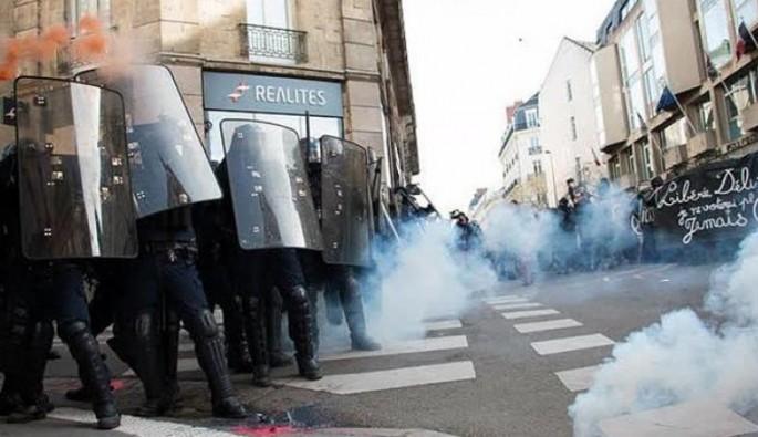 Le Pen karşıtı eylemciler polisle çatıştı
