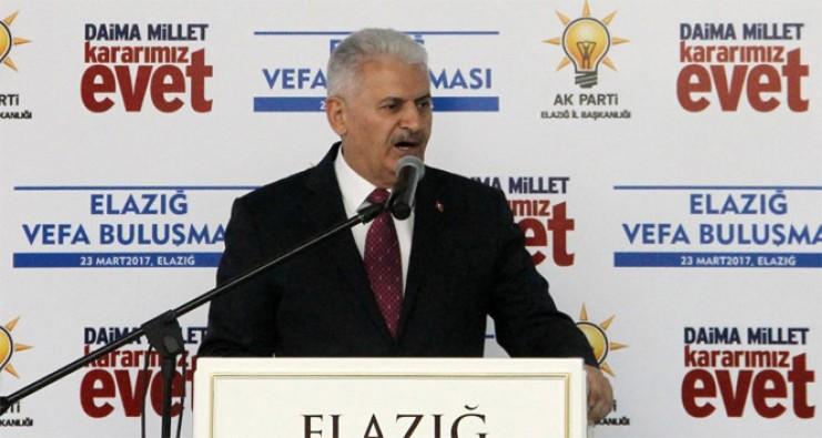 """Başbakan Yıldırım """"CHP millete güvenmiyor"""""""