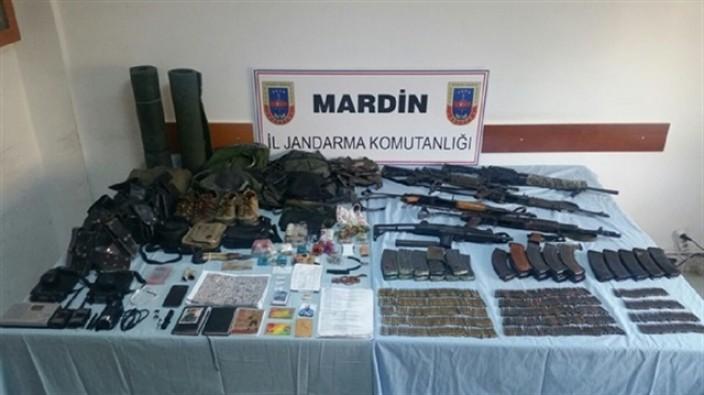 Mardin'de silah ve mühimmat ele geçirildi