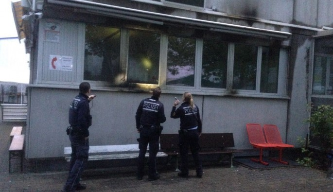 Almanya'da camiye molotoflu saldırı