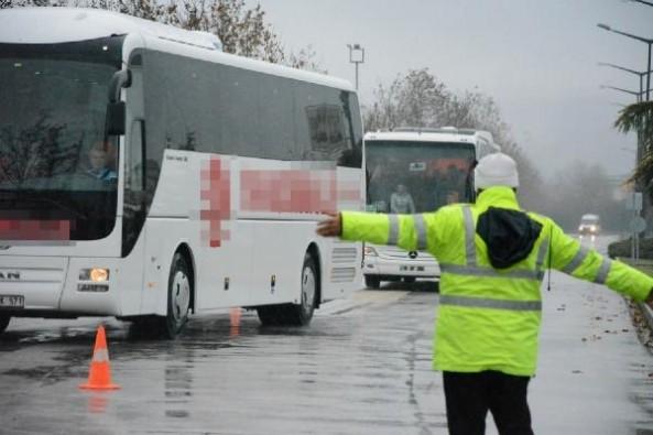 Bursa'da yolcu otobüslerine sivil denetim!