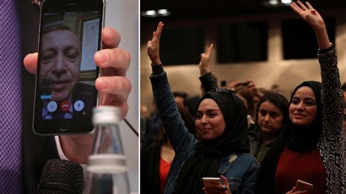 Erdoğan 'facetime'dan gençlere seslendi