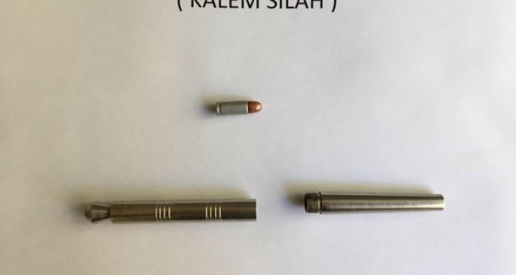 Kalem şeklinde suikast silahı