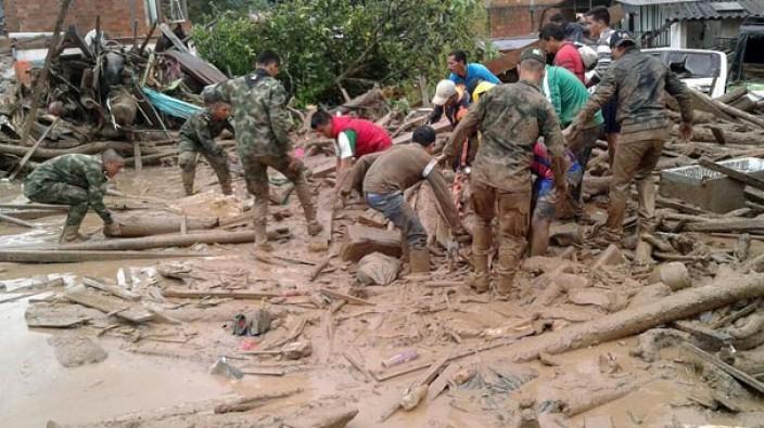 Kolombiya'daki sel felaketinde ölü sayısı 238'e ulaştı