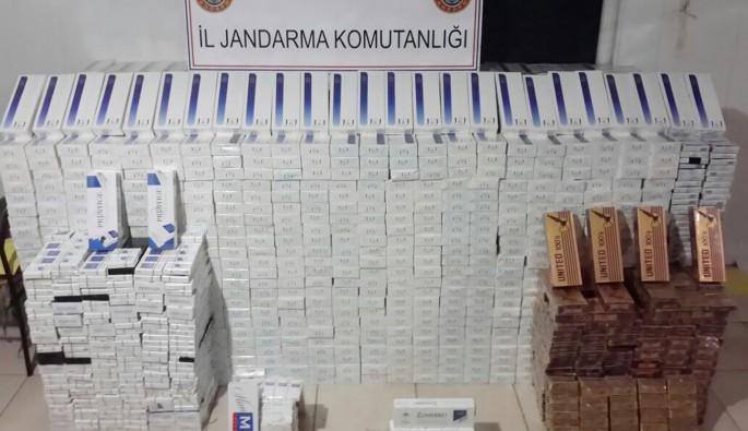 Nusaybin'de 28 bin 210 paket kaçak sigara ele geçirildi