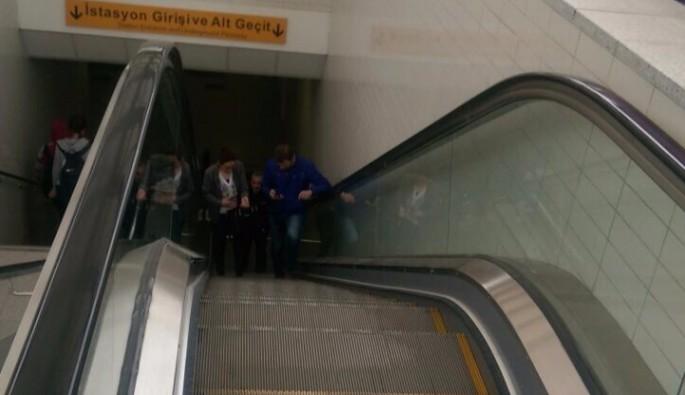 Yürüyen merdiveni engelleyene ceza