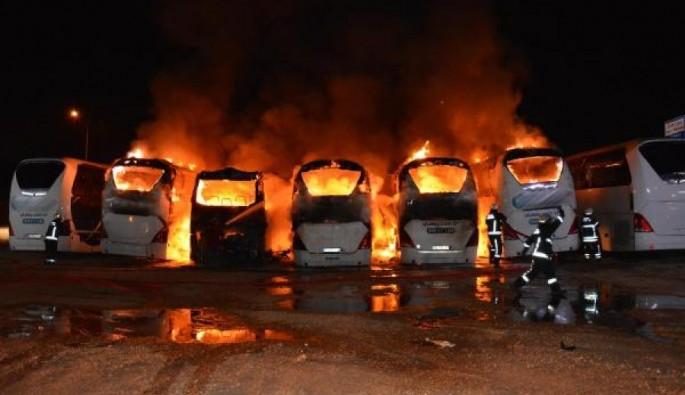 Bursa'da 6 otobüsün kül olduğu yangınla ilgili yeni gelişme