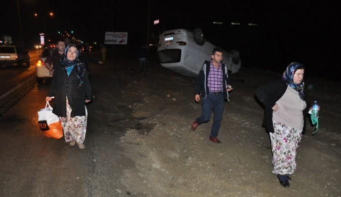 Bursa'da iftar dönüşü akılalmaz kaza! 7 yaralı