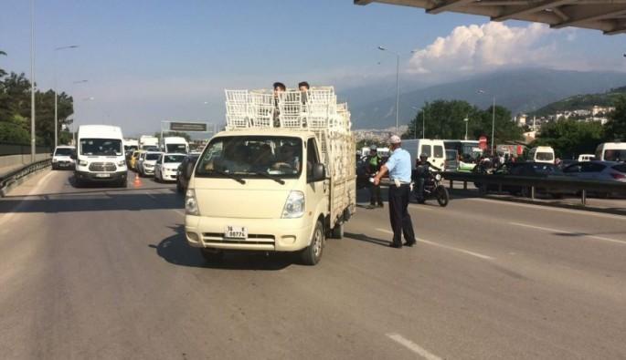 Bursa'da o araçlara ceza yağdı