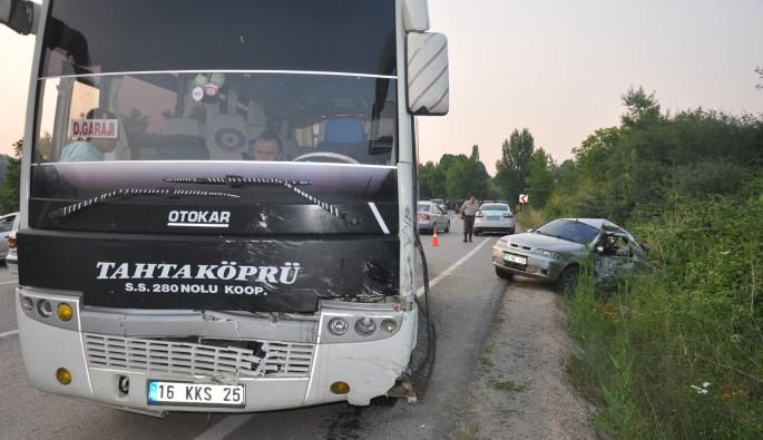 Bursa'da piknik dönüşü kaza: 6 yaralı
