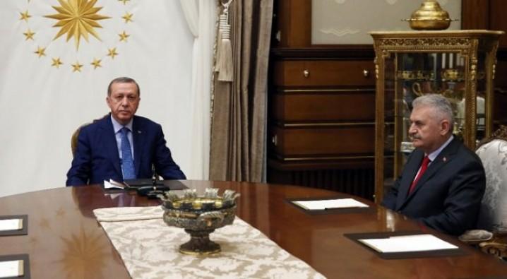 Erdoğan ile Yıldırım görüşmesi sona erdi