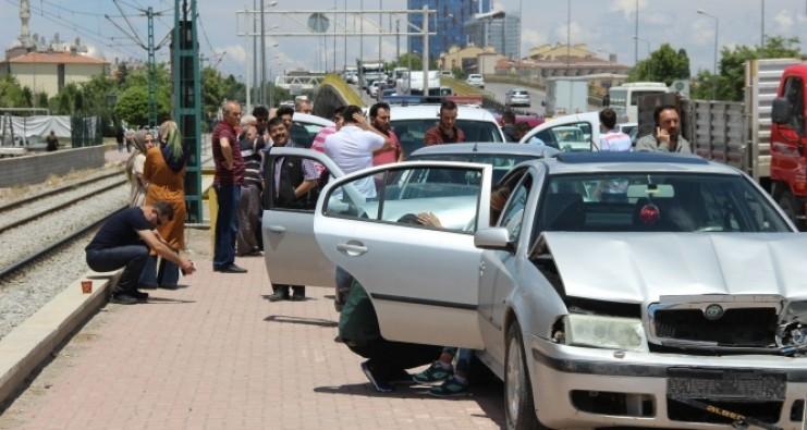 Konya'da zincirleme kaza