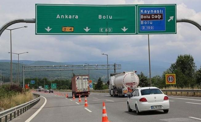 TEM Bolu kesimi 21 Haziran'a kadar kapalı