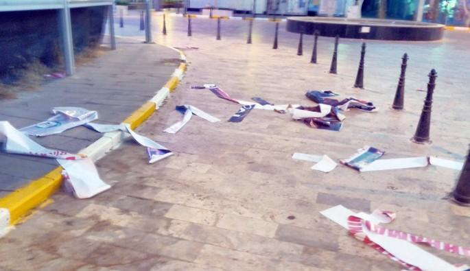 15 Temmuz destanı afişlerine saldırıya 3 gözaltı