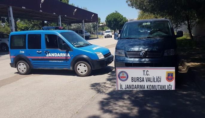 Bursa'da kablo hırsızları Jandarma ekiplerince yakalandı