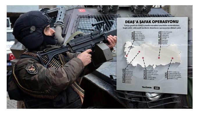 DEAŞ'e 'şafak' operasyonları