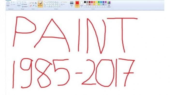 Microsoft Paint'in fişini çekiyor