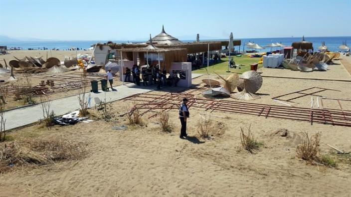 Plajda hava destekli operasyon