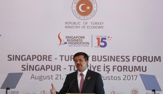 """Bakan Zeybekçi: """"Singapur ile 2 milyar dolarlık dış ticaret hedefi"""""""