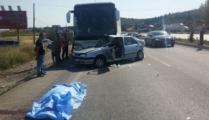 Manisa'da kaza can aldı