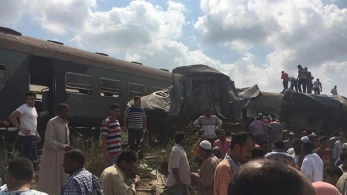Mısır'da tren faciası: 22 kişi öldü