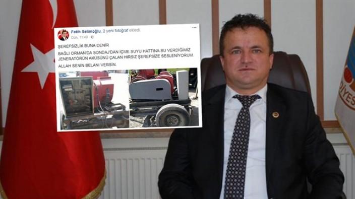 AK Parti'li Başkan çileden çıktı