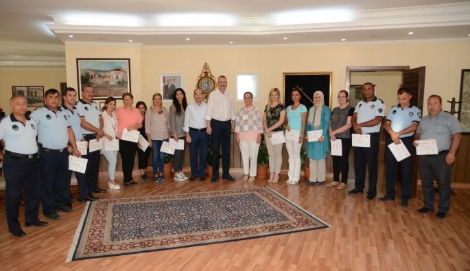 Belediye personeline hizmet içi eğitim