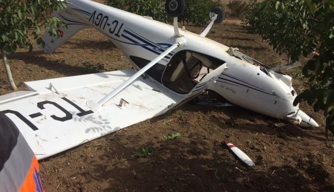 Bursa'da eğitim uçağı zorunlu iniş yaptı