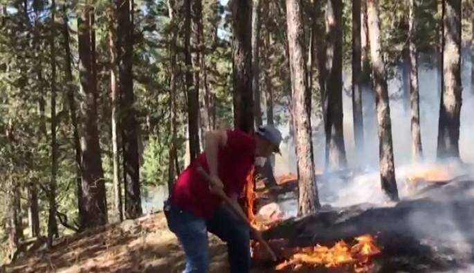 Sarıkamış Ormanları yanmaya devam ediyor