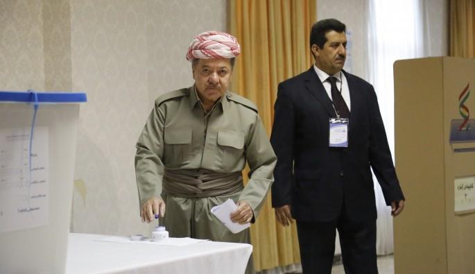 Tartışmalı referandumda Barzani de oyunu kullandı
