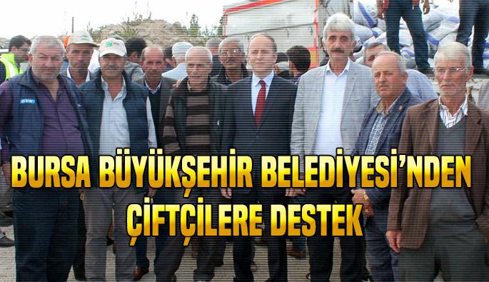 Bursa Büyükşehirden üreticiye tohum desteği